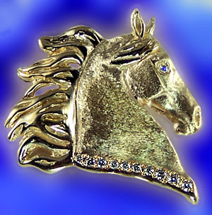 JET3829 Five Gaited Saddlebred Head Pendant