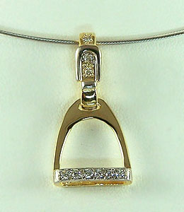 JET3808D English Stirrup Pendant