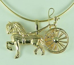 JET3929 Friesian Carriage Driving Pendant