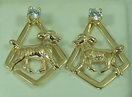 JET7564JER Poodle Jacket Earrings