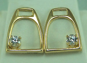 M1009ERWS Stirrup Earrings