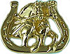 JET3454 Draft Horse Driving Team Pendant