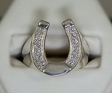 Men's CZ Horseshoe Ring