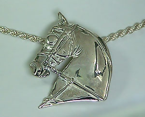 JET6464 Sterling Silver Driving Head Pendant