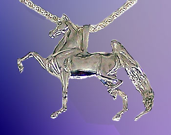 JET3275SS Sterling Silver Three Gaited Saddlebred