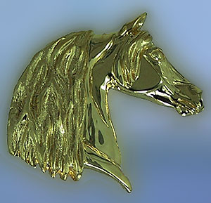 JET4011 Morgan Horse Head Pendant