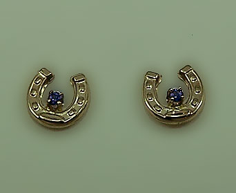 M7000_S Small Horseshoe earrings with Tanzanite Earrings