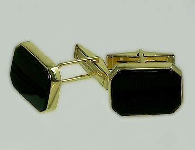JMM0077 Cuff Links Black Onyx
