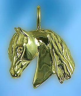 JET3301 Morgan Horse Head Pendant