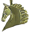 JET3578 Saddlebred Head Pendant