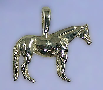 JET3119CO Quarter Horse Pendant Sterling Silver