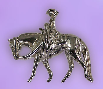 JET3138COSS Quarter Horse Pendant With Rider