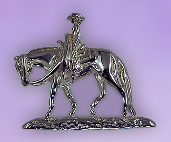 Quarter Horse with Rider in Nature Pendant