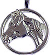Quarter Horse In Circle Pendant