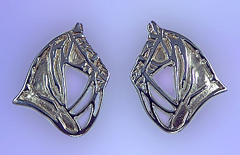 Saddlebred Head Silhouette Earrings