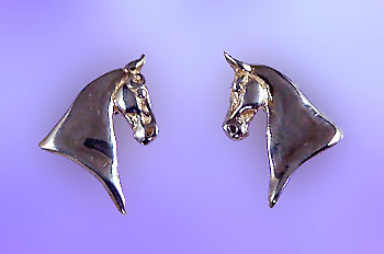 W1532SS Saddlebred Horse Head Earrings