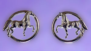 JET3290SS National Show Horse Earrings