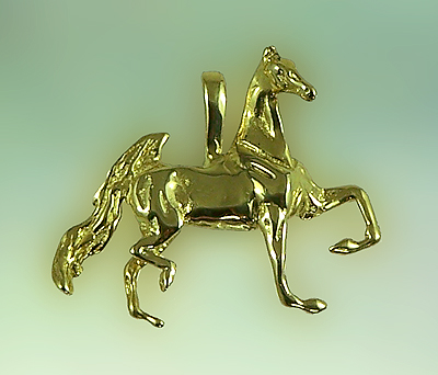 JET3321 Three Gaited Saddlebred Pendant
