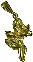 M2200 14kt Yellow Gold Angel Charm