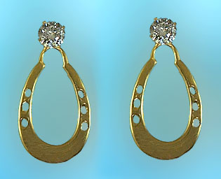 M2007J 14kt Yellow Gold Horseshoe Jackets