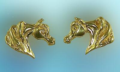 Jet3217 Arabian Horse Head Earrings