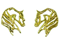 JET3146 Western Arabian Horse Head Earrings
