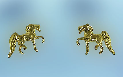 JET3203 Horse Earrings