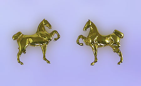 JET3514ER Hackney Pony Earrings