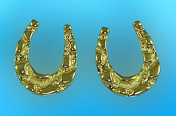 M717ER Nugget Horseshoe Earrings