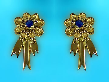 M6821ERS Blue Ribbon Earrings