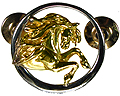 Friesian in Circle Lapel Pin