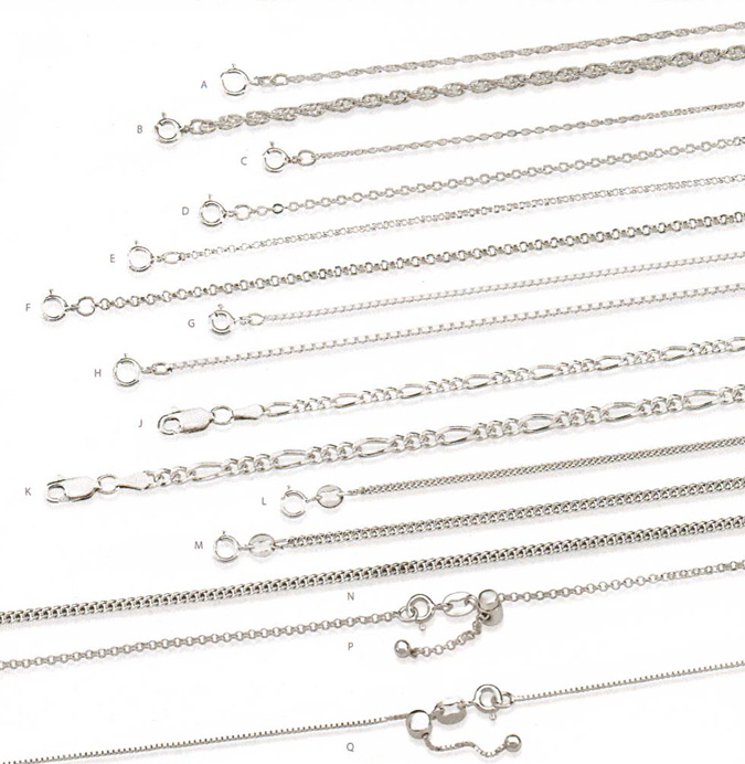 Sterling Silver 18 inch Chains