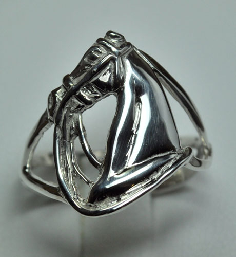 JET3873SS Horsehead Ring