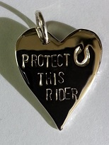 JM605SS Sterling Silver Protect this Rider Pendant