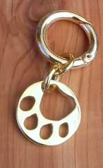 JM612B Brass Paw Key Chain
