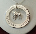 "WPC 2014 Ring with Percheron and 18"" Rope Chain"