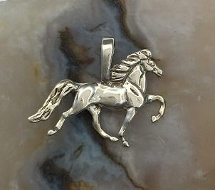 Sterling Silver Tennessee Pacer Pendant