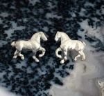 JET3572A&BSS Sterling Silver Full Body Draft Horse Earrings