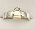 JET3671/JM509SS 14kt Yellow Gold Stirrup on Sterling Silver Band