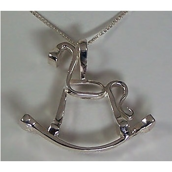 M2381SS Sterling Silver Rocking Horse