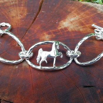 JM596SSTB Sterling Silver Polly Horse Toggle Bracelet