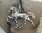 W1539SS Large Sterling Silver Walking Horse Pendant