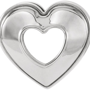 86097 14kt White Heart Pendant Slide