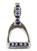 JET3808SS English Stirrup with Sapphires