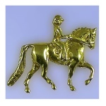 JET3567 14kt Yellow Gold Arabian Hunter Pendant