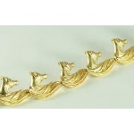JET3049B 14kt Yellow Gold Arabian Horse Head Bracelet
