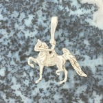 Gaited Horse and Rider Pendant