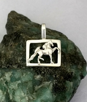 Saddlebred Horse in Frame Pendant