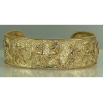 JET3372 14kt Yellow Gold Arabian Cuff Bracelet
