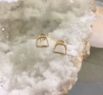 JET3399B 14kt Yellow Gold Stirrup Earrings